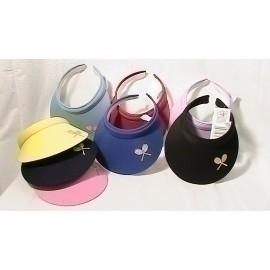 929da3d83c9e5b Cushees Applique Clip Visor Withcrossed Racquets - Th90 - Tennis Apparel &  Accessories Caps & Hats