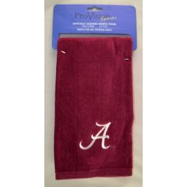 University Of Alabama Crimson Embroidered Towel White - Pv3-ua-c - Linens & Bedding Tennis Novelty Towels Frogg Toggs PV3-UA-C