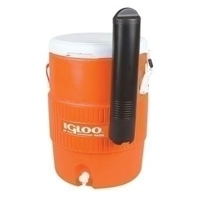 Facilities Management Water Coolers & Hydration Water Bottle Caddie - 1384468 - Igloo 10 Gal Orange Seat Top Cooler With Cup Dispenser-each 1384468