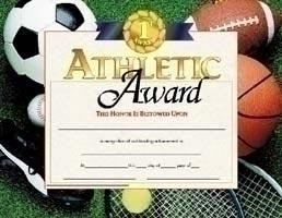 Athletics Coaching And Officiating Awards - Aw183p - Athletic Award Certificate - Boys AW183P