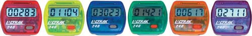 Colored Step Pedometers - Set Of 6 (1 Ea. Color) - Tl236p - Fitness Pedometers TL236P