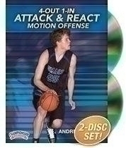 4out 1in Attack And React Motion Offense - Bd-04193 - Basketball Dvd BD-04193