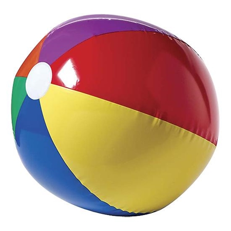 Beach Ball 16'' Dia - 3252 - Water Sports Beach Balls 3252