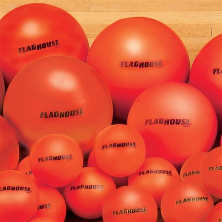 Flaghouse 6'' Colorbrite Coated Foam Ball Set - 12016 - Weight Lifting Kettlebells Vinyl Coated 12016