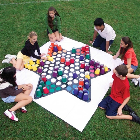 Outdoor Recreation Strategy Board Games Chinese Checkers - 15656 - Flaghouse Giant Chinese Checkers 15656
