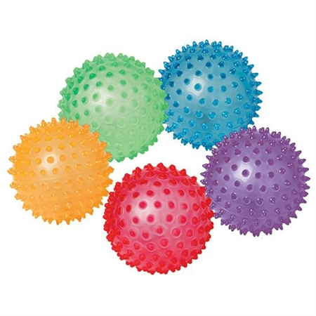 "Knobby Balls - Set Of 5 8"" - 41049 - Special Needs Sensory Processing Multi Sensory 41049"