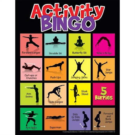 Physical Activity Bingo - 18938 - Toys Hands On Math Activities 18938