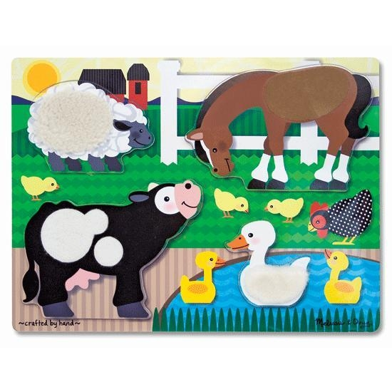 Toys Puzzles - 39595 - Tactile Puzzles Farm Animals 39595