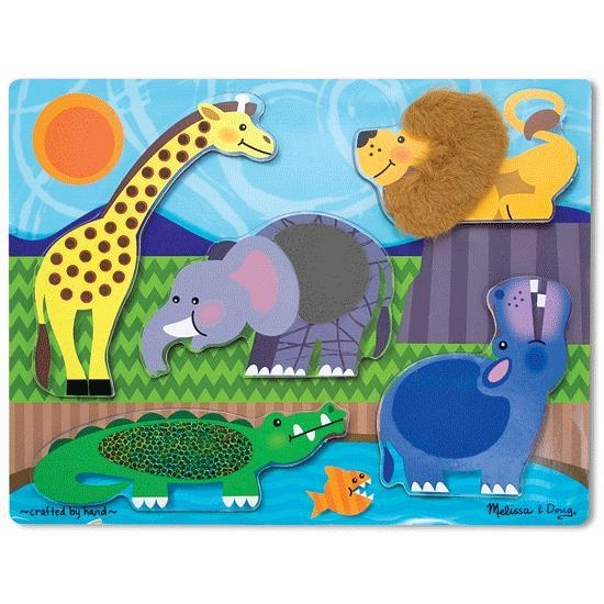 Toys Puzzles - 39596 - Tactile Puzzles Zoo Animals 39596
