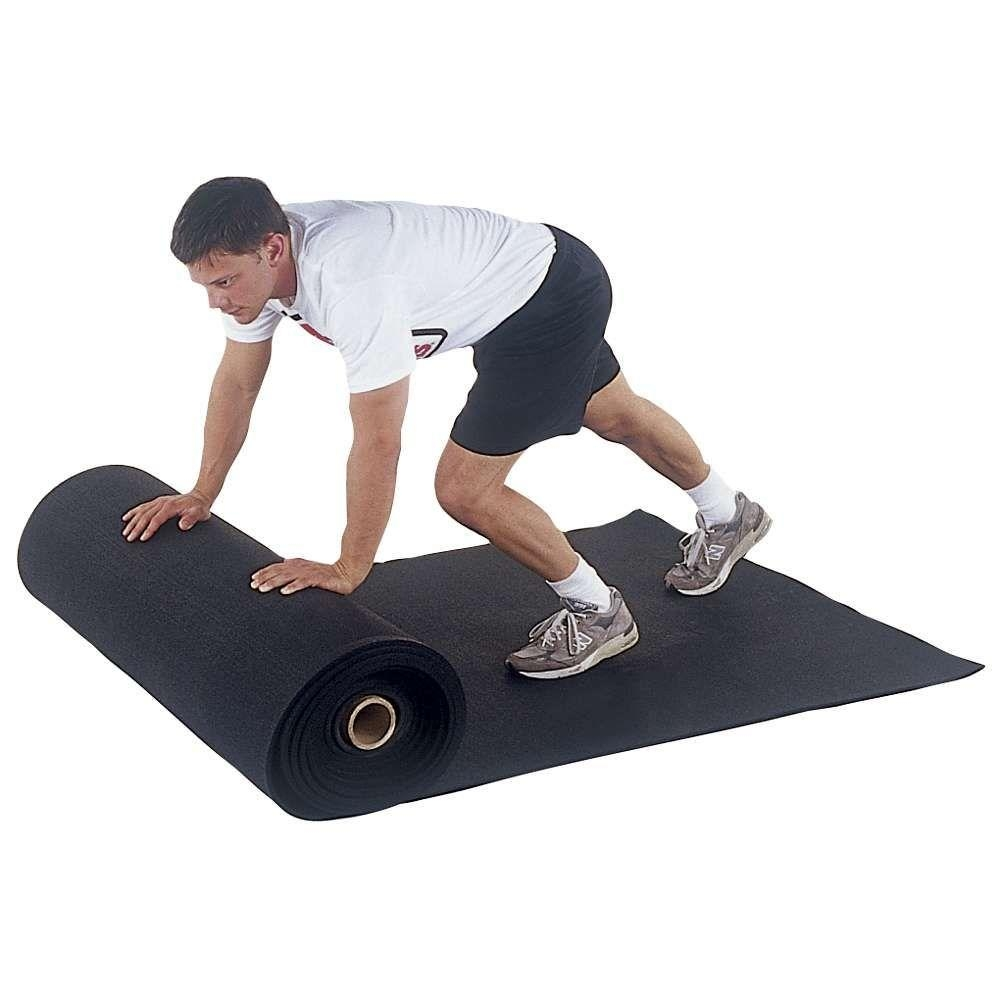 Physical Education Carpets - 62946 - Rubber Floor Roll 1/4 In. X 48 In. - Black 62946