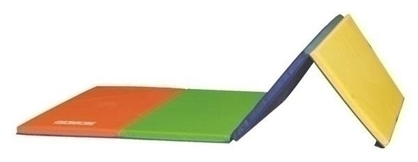 Gibson Rainbow Mat 4 Ft X 8 Ft X 1 3/8 Inch - Velcro On 2 Sides - Ps-9248t - Athletics Gymnastics PS-9248T