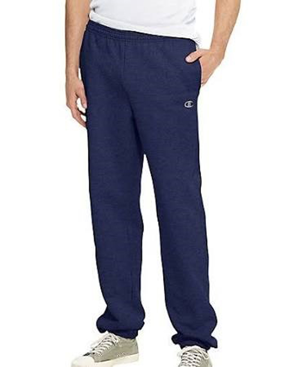 Champion Men's Elastic Hem Eco Fleece Sweatpant - Large - Navy - 70082 - Basketball Basketballs Balls Color Rubber Basketballs 70082
