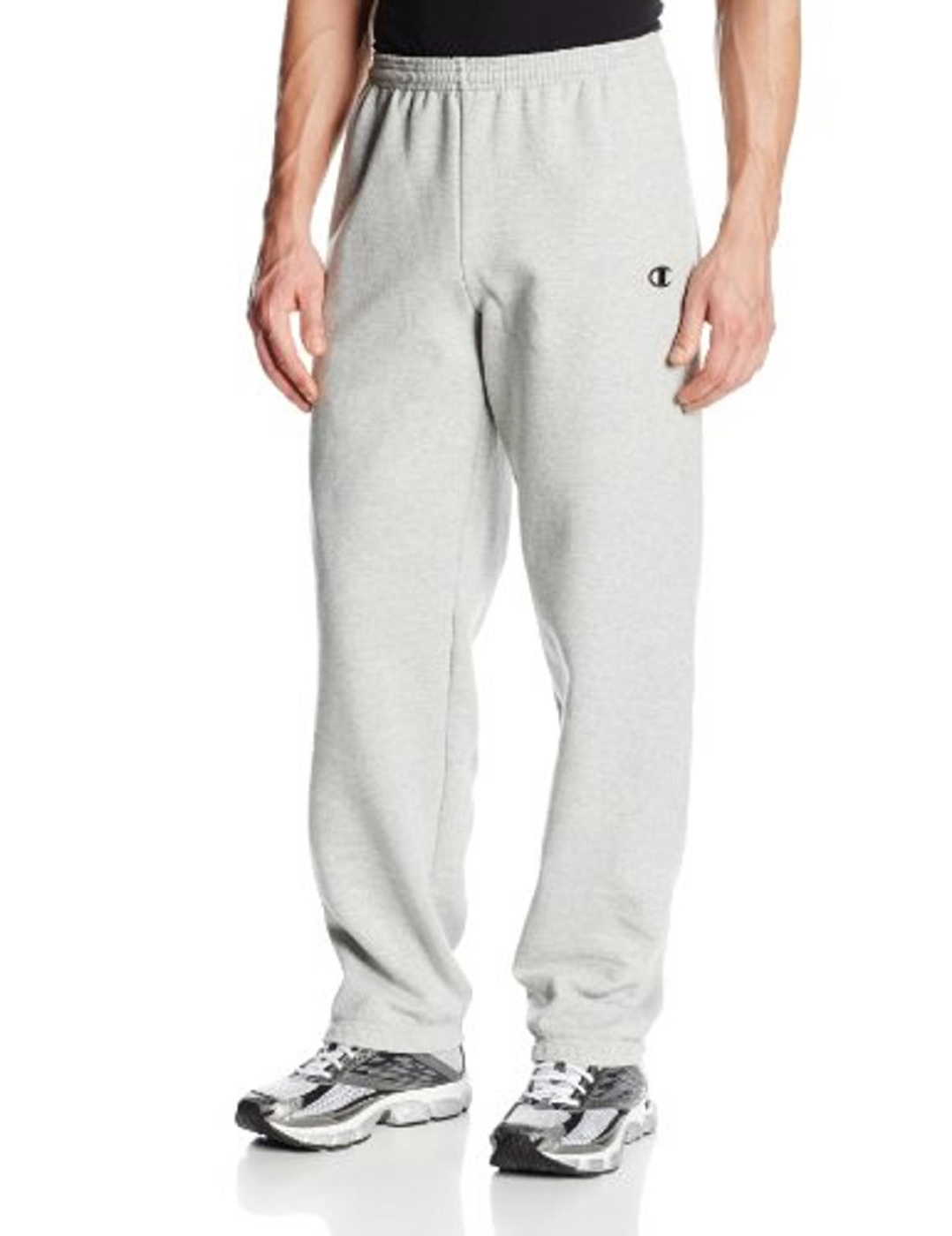Champion Men's Elastic Hem Eco Fleece Sweatpant - Small - Oxford Grey - 70084 - Basketball Basketballs Balls Color Rubber Basketballs 70084