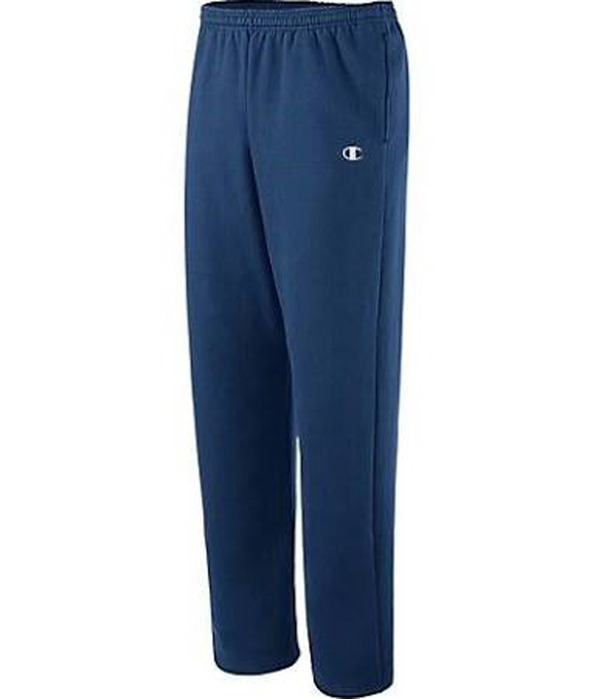 Champion Men's Open Bottom Eco Fleece Sweatpant - Large - Navy - 70080 - Basketball Basketballs Balls Color Rubber Basketballs 70080