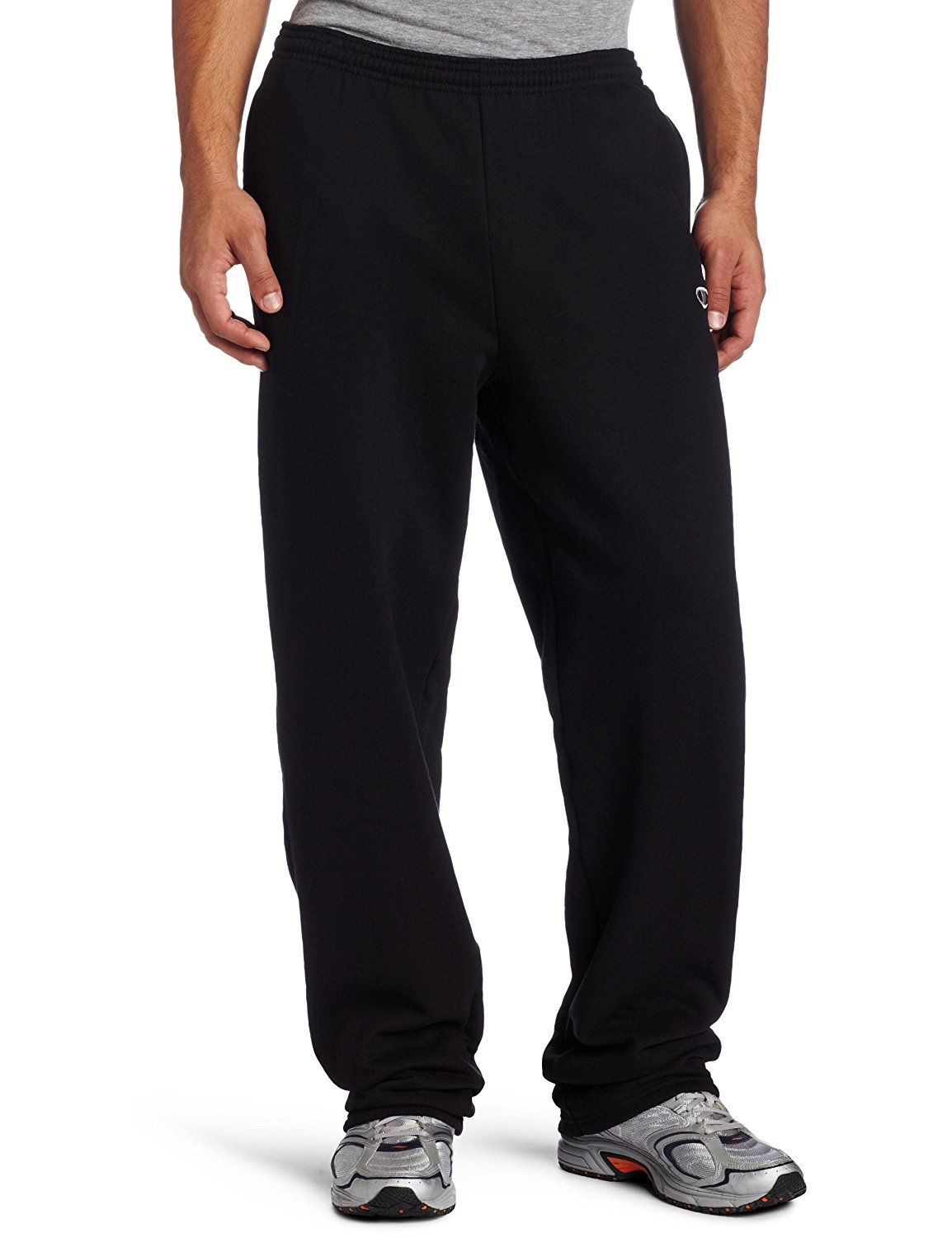 Champion Men's Open Bottom Eco Fleece Sweatpant - Small - Black - 70086 - Basketball Clothing Basketball Uniforms 70086