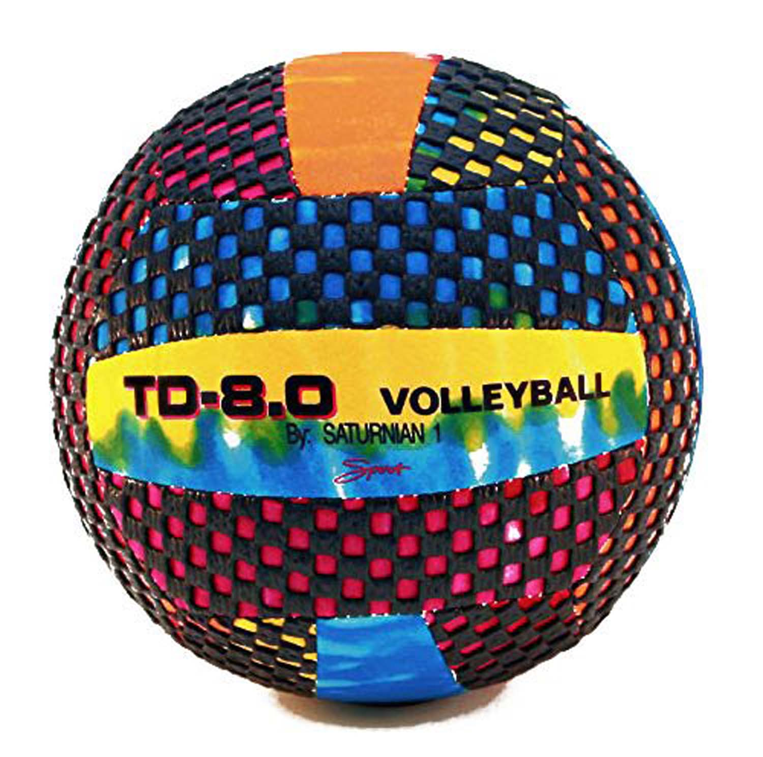 "Fun Gripper Tie-dye (td) 8.5"" Volley Ball ( Indoor -outdoor ) Sting Free By: Saturnian 1 - 21337 - Tennis Balls Tennis Balls Fun Express 21337"