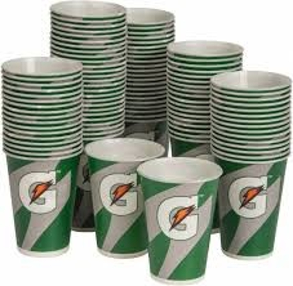 Gatorade 12oz Cups - 100 Cups Per Pack - 59142 - Tennis Court Equipment Coolers & Accessories 59142
