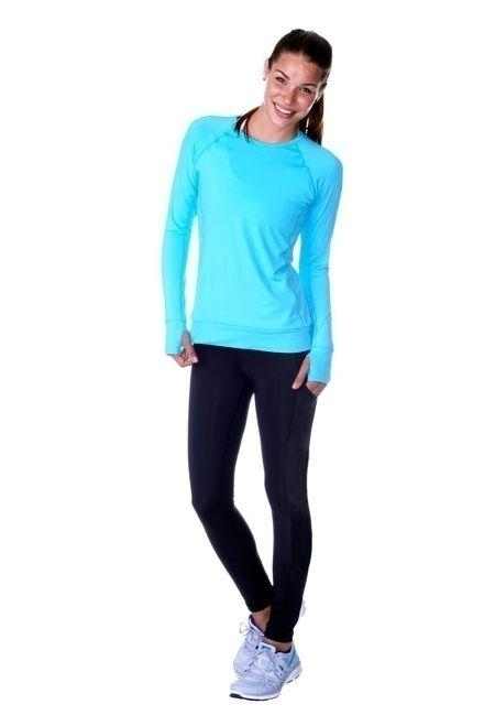 Compression Long Tights - No Stripe - Black - 6007-ns-bk - Tennis Training Fitness & Therapy 6007-NS-BK