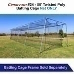 Cimarron 50x12x10 #24 Twisted Batting Cage Net Only - Cm-502024tp - Baseball & Softball Batting Cage Net CM-502024TP