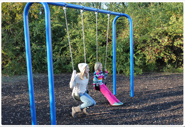 3.5 Inch Od Arch Post Swing - 2 Seat - 581-602 - Toys Swings & Slides 581-602