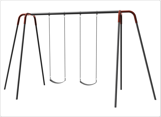 Heavy Duty Modern Tripod Swing- 10 Foot; 2 Seat - 581-240 - Toys Swings & Slides 581-240