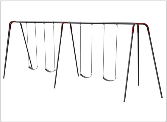 Heavy Duty Modern Tripod Swing- 10 Foot; 4 Seat - 581-440 - Toys Swings & Slides 581-440