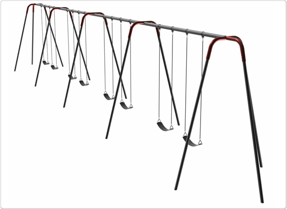 Heavy Duty Modern Tripod Swing- 10 Foot; 8 Seat - 581-840 - Toys Swings & Slides 581-840