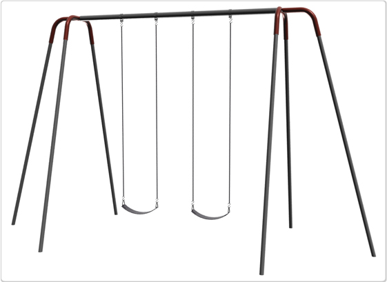 Heavy Duty Modern Tripod Swing- 12 Foot; 2 Seat - 581-242 - Toys Swings & Slides 581-242