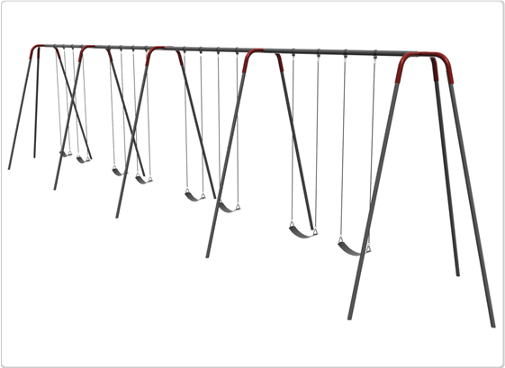 Heavy Duty Modern Tripod Swing- 12 Foot; 8 Seat - 581-842 - Toys Swings & Slides 581-842