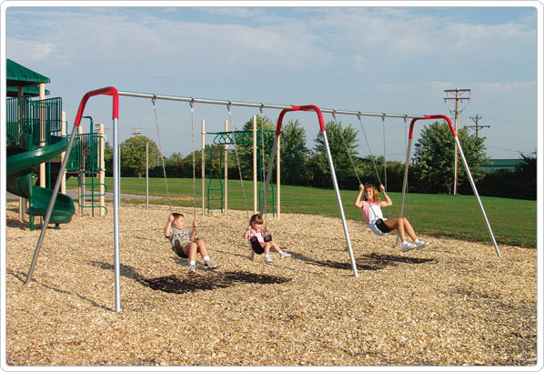 Modern Bipod Swing- 8 Foot; 6 Seat - 581-638 - Toys Swings & Slides 581-638