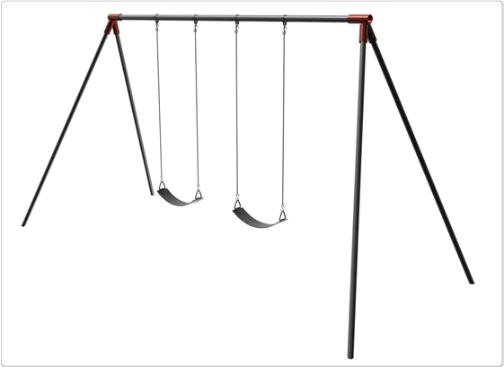 Primary Bipod Swing- 10 Foot; 2 Seat - 581-218x - Toys Swings & Slides 581-218X