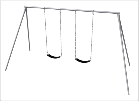 Primary Bipod Swing- 8 Foot; 2 Seat - 581-218 - Toys Swings & Slides 581-218