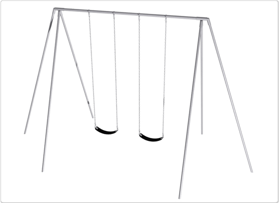Primary Tripod Swing- 12 Foot; 2 Seat - 581-222 - Toys Swings & Slides 581-222