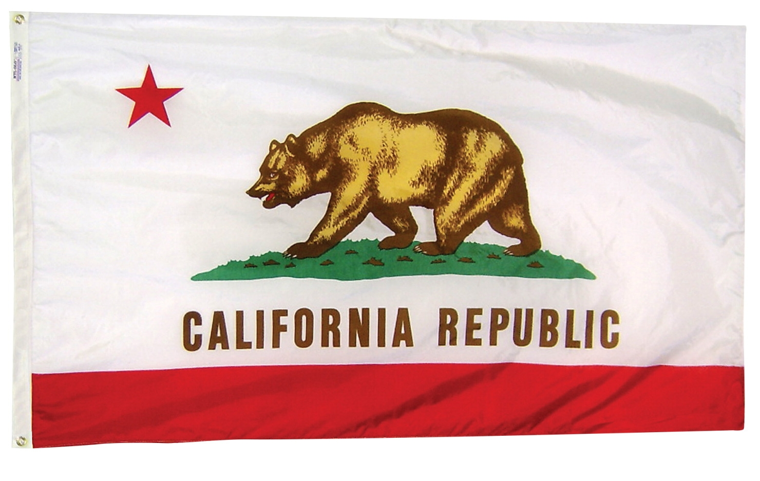Annin Nylon California Indoor State Flag; 3 X 5 Ft - 023334 - Apparel Team Class Identification Nylon Pinnies 023334