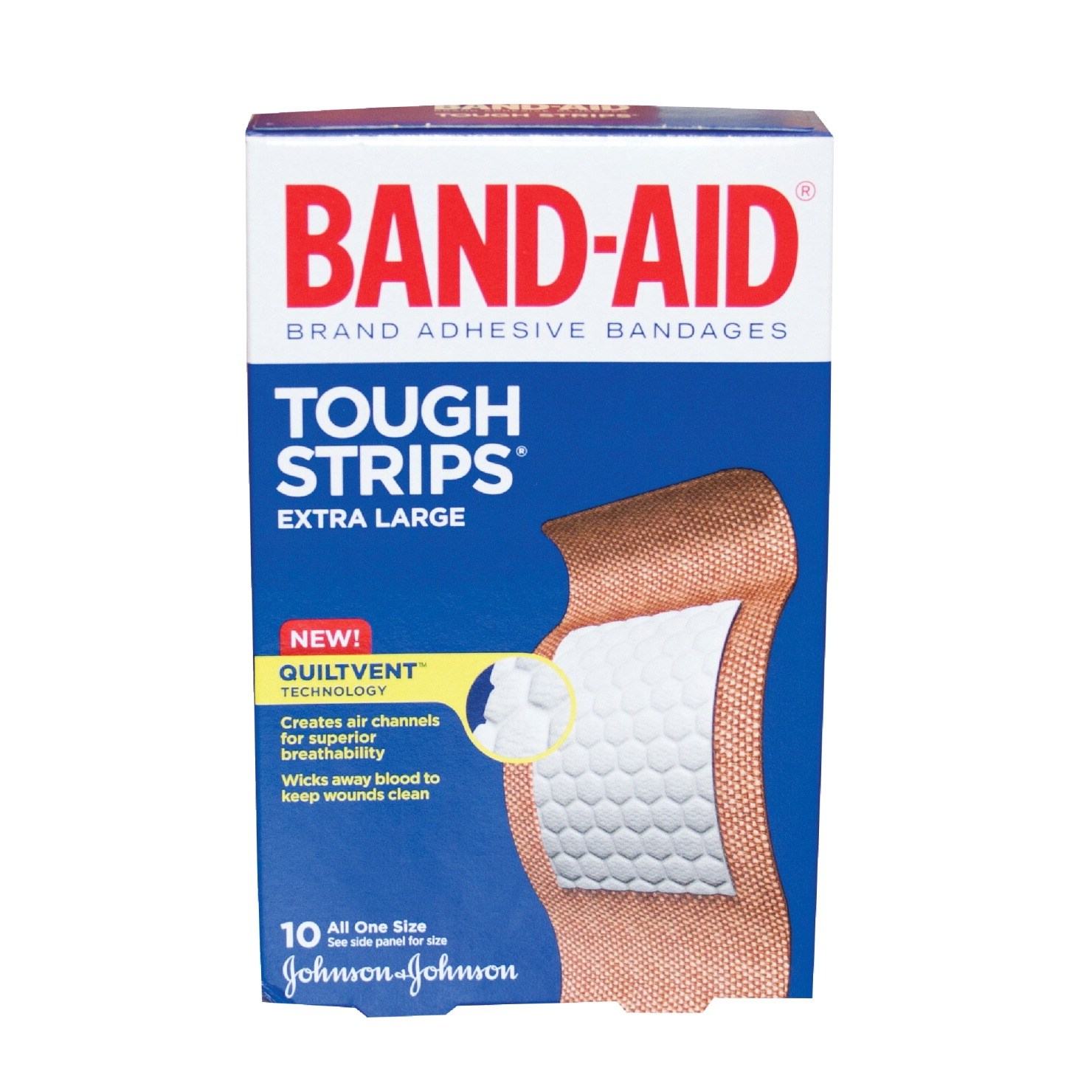 Bandaid Extra Large Bandage; Pack Of 10 - 1449408 - Facilities Management Facility Supplies First Aid Health Supplies Diagnostic Bandages And Masks 1449408