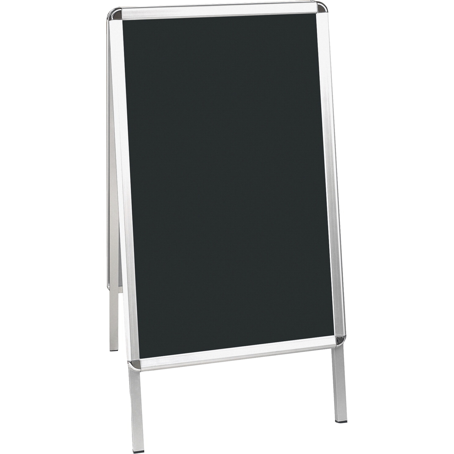 Bi-silque Wet Erase Display Board; 1-7/10 X 24 X 47 In; Aluminum Frame; Black - 1334043 - Toys Easels And Drying Racks 1334043