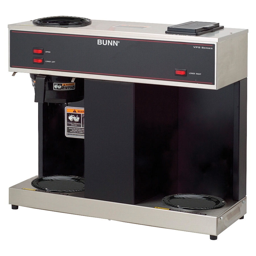 Bunn-o-matic Pour-over Three-warmer Commercial Brewer; No Decanters; Black/stainless Steel - 1102855 - Facilities Management Facility Supplies Machines Appliances Kitchen Appliances 1102855
