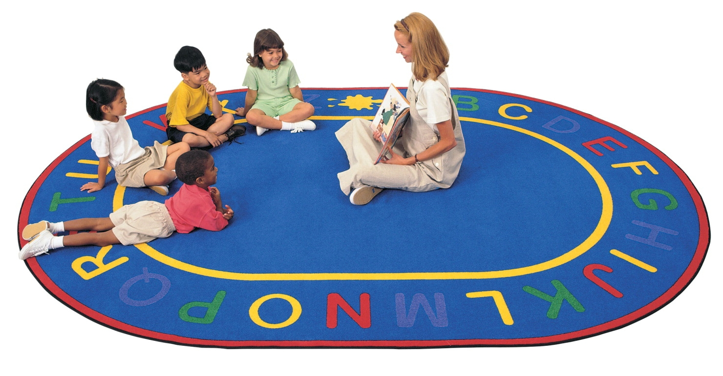 Carpets For Kids Alpha Rug; 6 Ft 9 In X 9 Ft 5 In; Oval - 520727 - Physical Education And Recreation Carpets 520727
