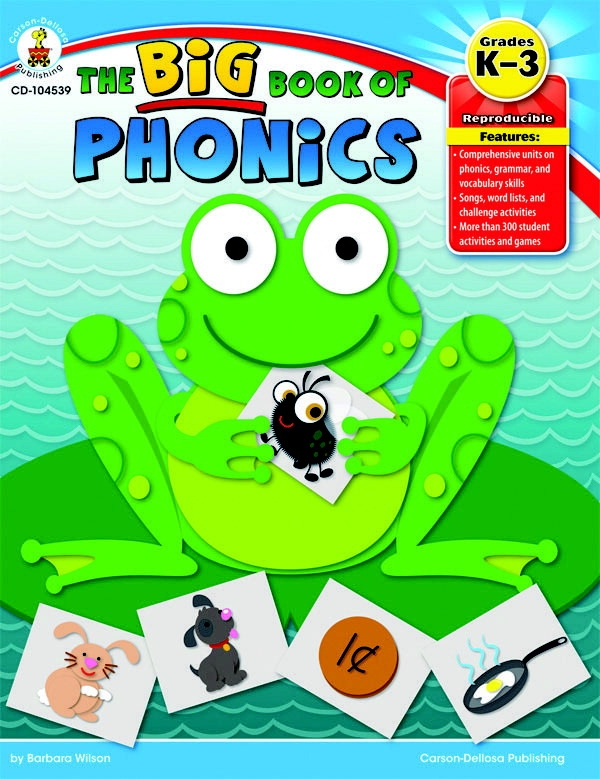 Carson-dellosa The Big Book Of Phonics - 1399119 - Instructional Materials Resources Science Activities Equipment Physical Science Projects Books 1399119