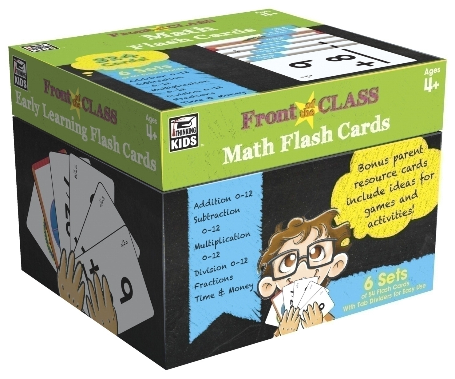 Toys Educational Toys Educational Flash Cards - 1568225 - Carson-dellosa Math Flash Cards; Grades Prek To 3 1568225