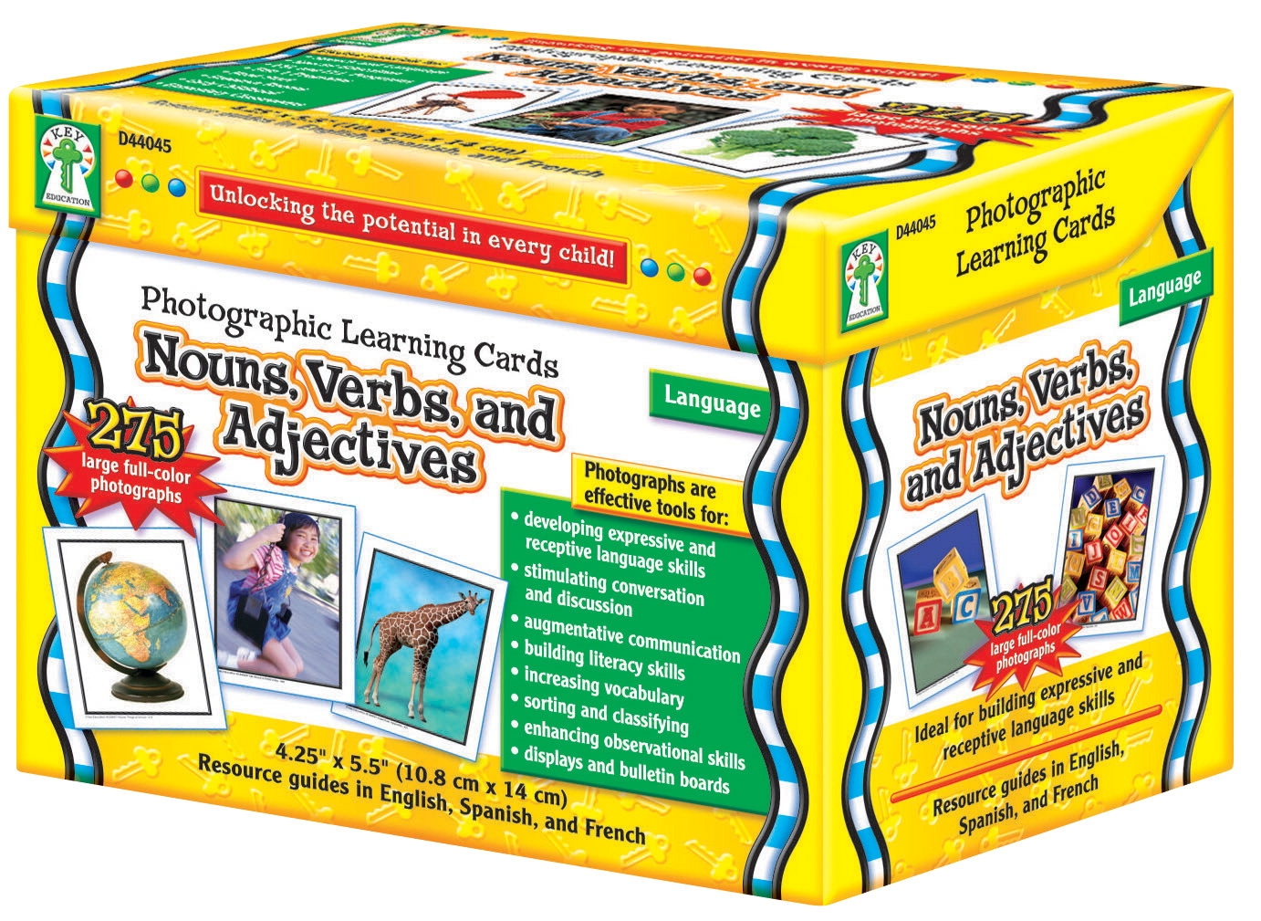Special Needs Children Special Needs Special Needs Sensory Resources Books - 1329415 - Carson-dellosa Nouns; Verbs And Adjectives Photographic Learning Cards 1329415