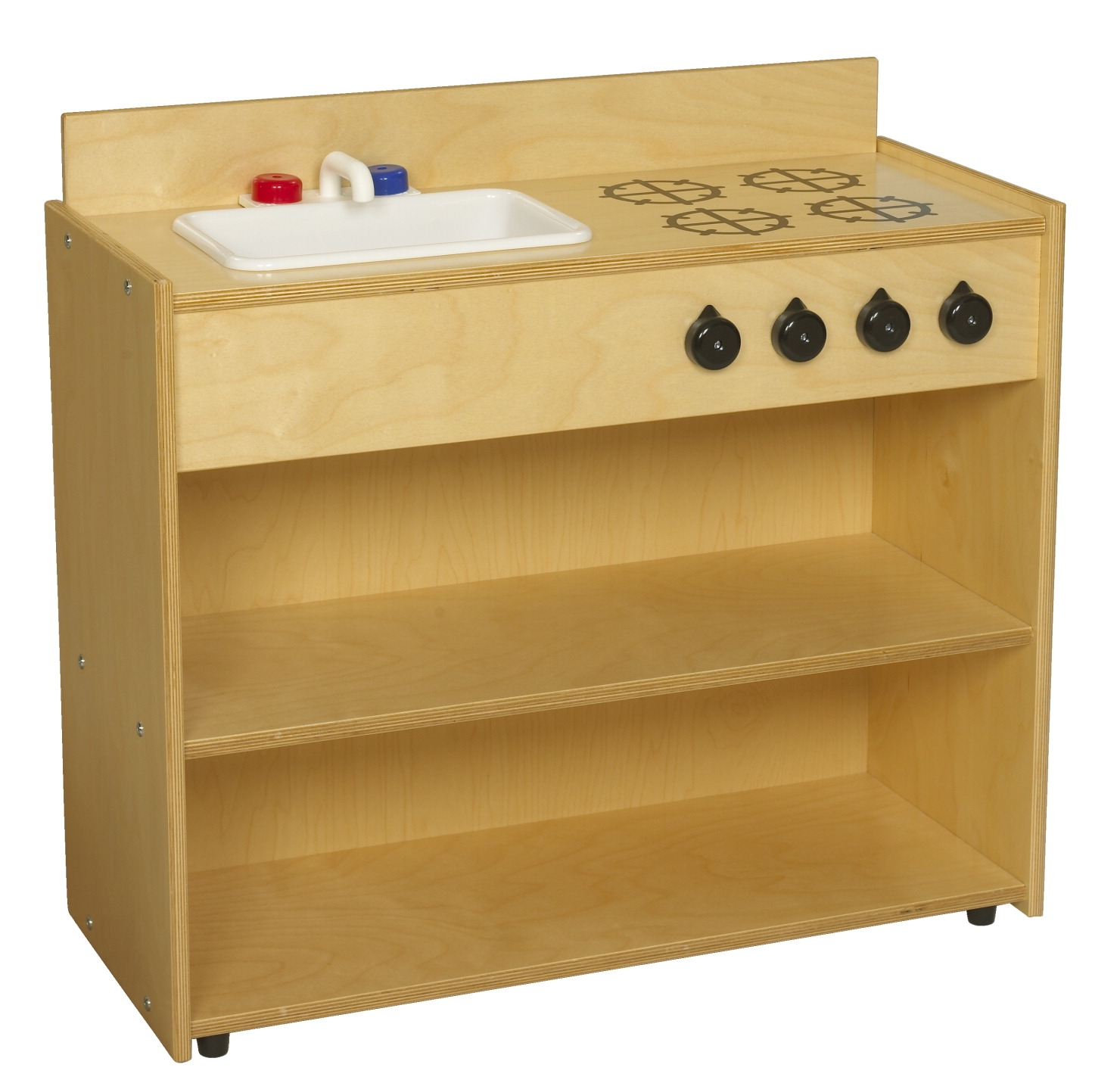 Childcraft Abc Furnishings Sink-stove Combo; 30-3/4 W X 13 D X 28-1/4 H In - 1526463 - Toys Pretend Play Toy Kitchens & Play Food 1526463