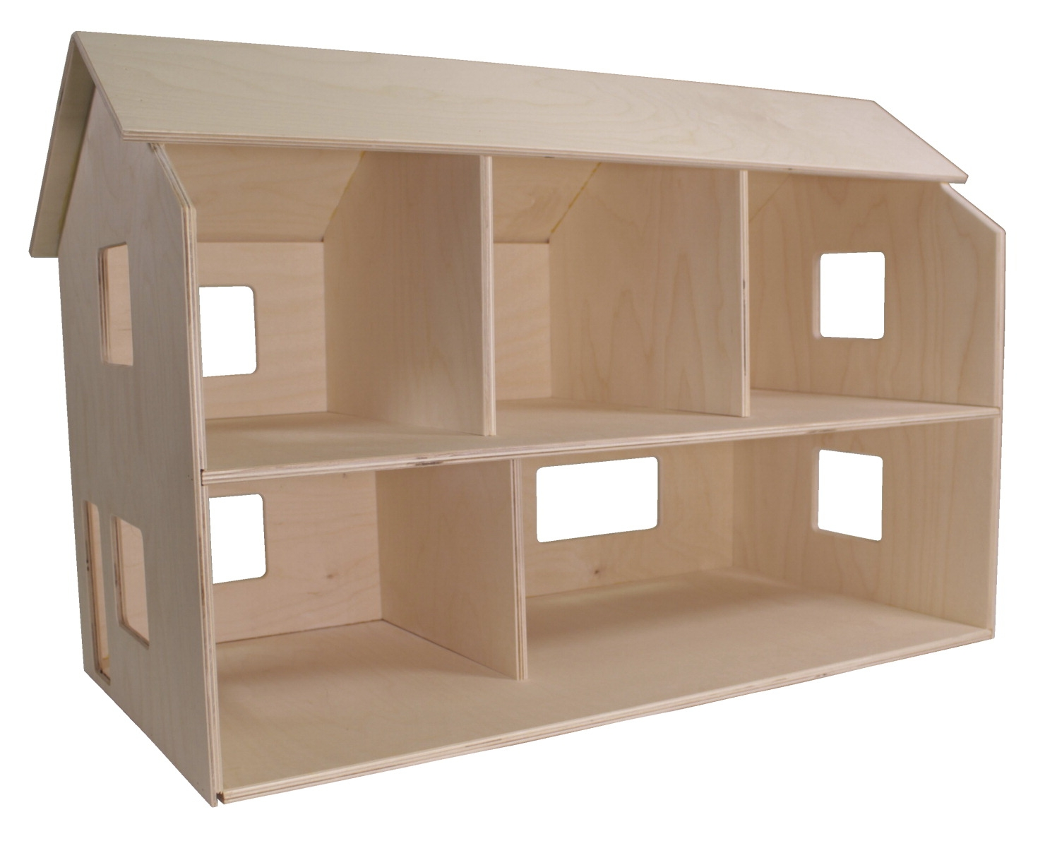Facilities Management Dollhouses Dollhouses Room Boxes Foyers Half Scale Garden Sheds - 252363 - Childcraft Classic Dollhouse; Unfinished; 29-3/4 X 15-1/2 X 19-1/2 Inches 252363