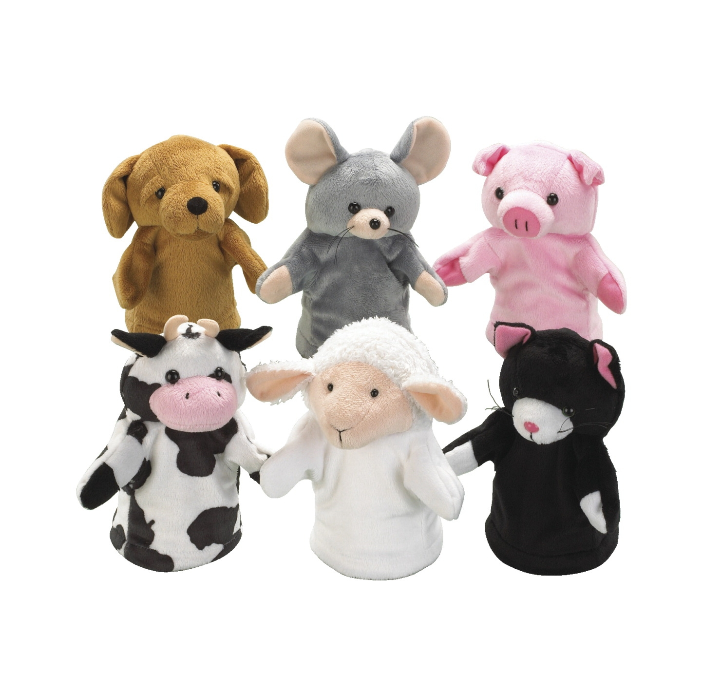 Toys Dolls Playsets & Toy Figures Puppet Theaters - 1353644 - Childcraft Farm Animal Puppets; Set Of 6 1353644