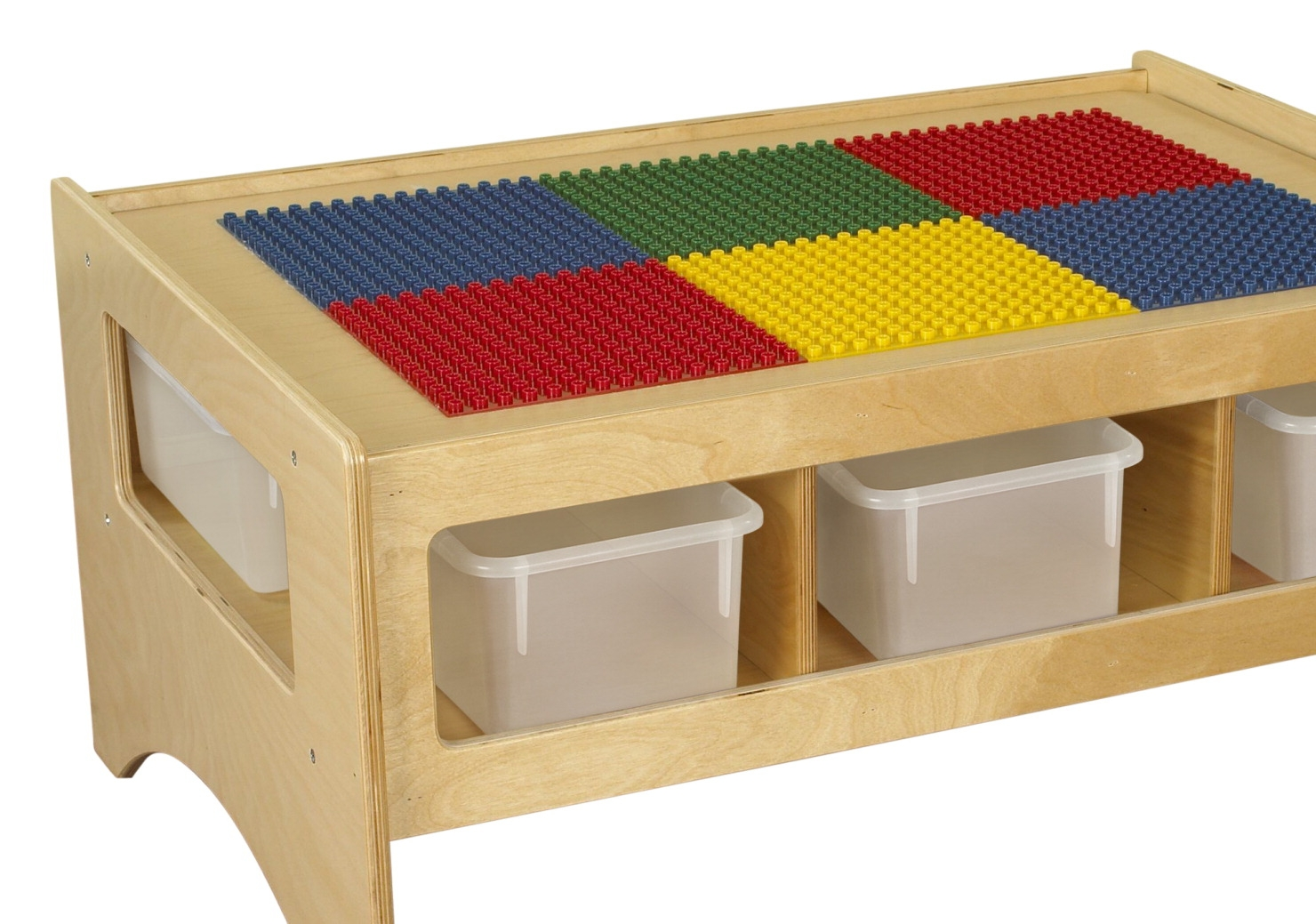 Childcraft Toddler Multi-purpose Play Table With 6 Translucent Trays; Colors May Vary - 1539300 - Toys Hands On Math Activities 1539300