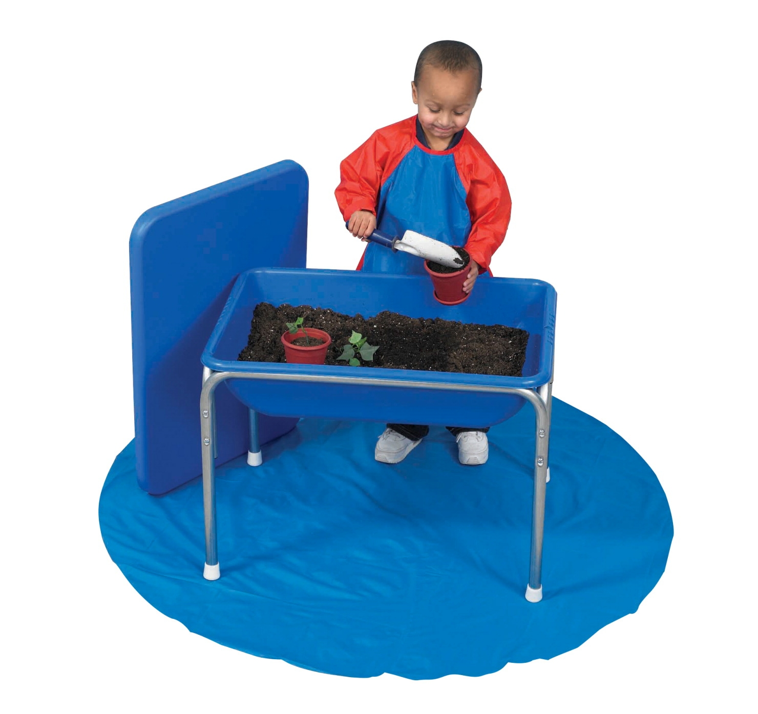 Children's Factory Small Sensory Table And Lid Set; 28-1/2 X 20-1/2 X 18 Inches; Chrome Steel Frame - 1427601 - Special Needs Sensory Processing Multi Sensory 1427601