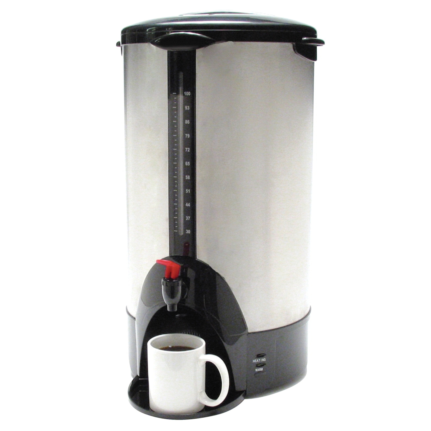Coffeepro Commercial Urn/coffee Maker; 13-1/2 X 12-1/2 X 23 In; 100 Cup; Stainless Steel - 1334421 - Facilities Management Facility Supplies Machines Appliances Kitchen Appliances 1334421