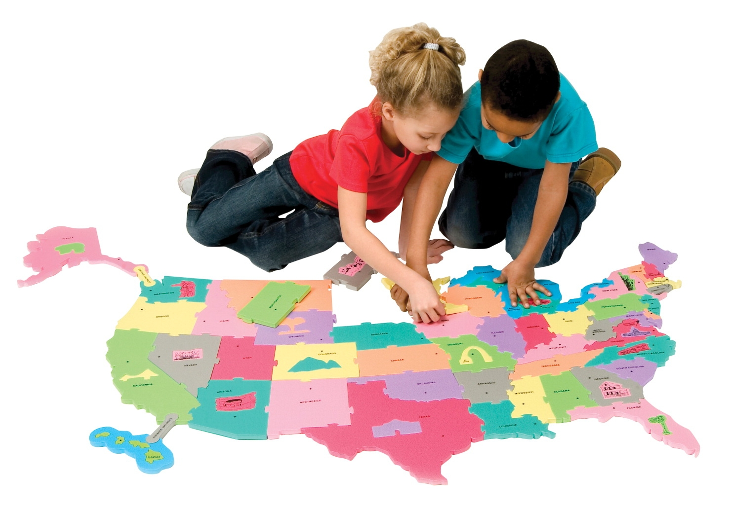 Creativity Street Giant Map Puzzle - 075729 - Toys Floor Puzzles 075729