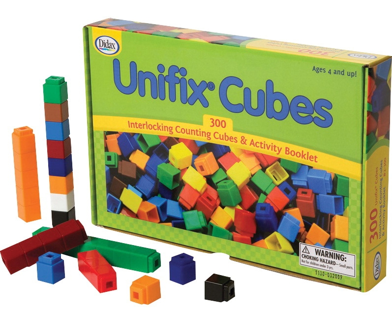 Toys Puzzles - 204108 - Didax Interlocking Counting Unifix Cubes With Activity Booklet; 300 Pieces 204108