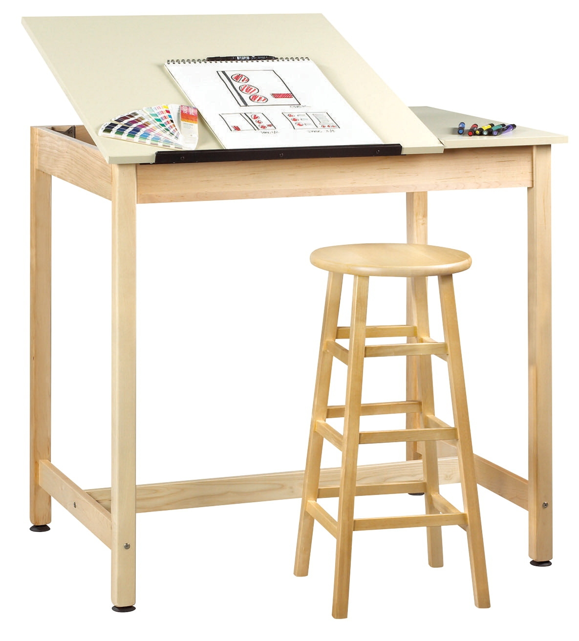Diversified Woodcrafts Drafting Table; Split Top; 42 X 30 X 39-3/4 Inches; Maple - 599207 - Table Tennis Table Tennis 599207